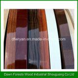 bordure foncée de PVC de couleur solide de 1.0mm de couleur en bois lustrée élevée des graines