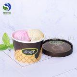 Copo de papel descartável de gelado da única parede Compostable biodegradável da alta qualidade com tampas de papel