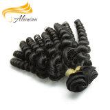 Cabelo humano do Virgin cheio profundo das cutículas do Weave do cabelo Curly
