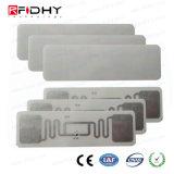 Etiqueta engomada elegante de la etiqueta de la frecuencia ultraelevada RFID del extranjero H3 9662 del control de gerencia