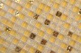 Mozaïek van de Barst van het Ijs van het Glas van de Kleur van de Decoratie van de Muur SD003 300X300 het Gele