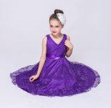 Детский букет девочек кружевной одежды для свадебное формальной стороной платья дети износа