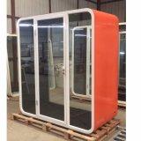 Metalltyp akustischer Büro-Telefon-Stand mit schalldichtem Panel