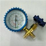 プラスチックハウジングおよび黄銅のT継手の真空の圧力計との70mm