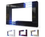 Wohnzimmer-Möbel-gesetztes Trugbild-Schwarz-hohes Glanz-Wand Fernsehapparat-Gerät