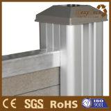 Frontière de sécurité en plastique en bois du composé WPC d'installation facile avec le poste en aluminium