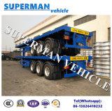 60t Aanhangwagen 3 van de Vrachtwagen van de lading Flatbed Semi As
