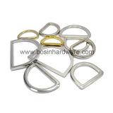 """Piccolo anello a """"D"""" della cinghia della pianura del metallo da 1/4 di pollice"""