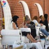 Fancy con respaldo alto trono blanco Pedicura Spa silla sillas Tech Wholesale