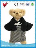Urso da peluche do luxuoso com o uniforme para o miúdo