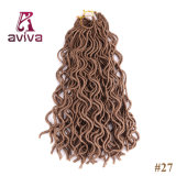 (24 пакета Roots-1) 20 '' оплеток выдвижений волос Kanekalon закрутки Mambo Fauxlocs Гавана волнистых волос заплетения вязания крючком Locs Faux синтетических мягких курчавых