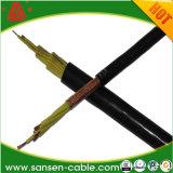 Isolamento de PVC / PVC Kvvp da bainha do cabo de comando LSZH blindado de tecelagem