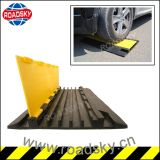 Fabricante para a rampa visível de borracha do cabo da entrada de automóveis preta & amarela