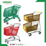 einkaufen-Laufkatze-Karre des Supermarkt-210L Plastik