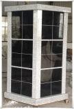 48 محراب حديثة [شنإكسي] أسود صوان [كلومبريوم] لأنّ مقبرة حديقة