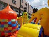 Giochi gonfiabili della città di divertimento del campo da giuoco esterno variopinto di divertimento per i bambini