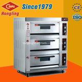 Horno de gas de la bandeja de la cubierta 6 del equipo 3 de la cocina de Hongling para las ventas
