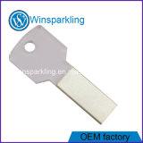 Кристально чистый ключ USB флэш-накопитель с логотипом, гравировка