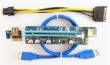 008c PCI-E de 1x a 16x extensión vertical de la GPU de la tarjeta adaptadora