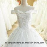 Applique 2017 платьев венчания шнурка Backless шифоновый отбортовывая Bridal мантию