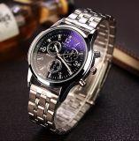 H271-S Yazole Form-Armbanduhr-Luxuxgeschäfts-Uhr-Mann-Entwurf mit blauem Glas