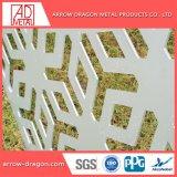 Corte a Laser em alumínio com pintura metálica entalhado/ Painéis gravada na parede lateral/ fachada de arquitetura