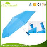 Hochwertiges Geschenk, das preiswertesten LED Regenschirm den 3 Falten-bekanntmacht