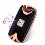 재충전용 USB 점화기 /Finger 검사 단추 두 배 아크 라이트