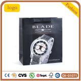 Hoher Grad-überwachen weißer Schaufel-Uhrpatten-Form-Uhr-Beutel, Geschenk-Papierbeutel, Papierbeutel