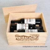 6개의 병 포도주, 25 Oz를 위한 좋은 품질 단단한 나무 상자. /Bottle
