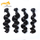 Remyの自然な人間の毛髪を編む未加工中国の波状毛