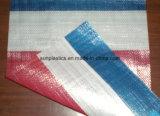 Tissu tubulaire tissé par pp blanc pour le sac