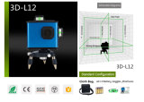 8 línea autoajustable nivel verde del laser con el corchete