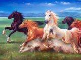 8pcs de course de chevaux Hand-Painted peinture huile sur toile pour les murs