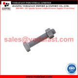 ISO 4017 DIN 933 boulon hexagonal avec la norme ISO 4032 DIN 934 écrous hexagonaux galvanisé à chaud
