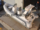 Crogiolo idraulico di sezione comandi concentrare delle barche 17feet della nervatura del PVC Cina di Liya