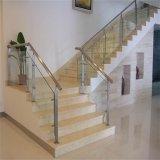 Fácil instalar la barandilla de cristal de la escalera del acero inoxidable para el edificio residencial