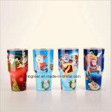 Tasses colorées de courses de licorne d'acier inoxydable de double mur
