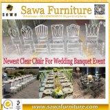 A cadeira acrílica de cristal transparente desobstruída a mais nova do evento do casamento 2017
