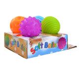 Gesunde und weiche Silikon-Kugel-intellektuelles Ausbildungs-Spielzeug für Baby