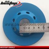 22.23mm 연결 구멍을%s 가진 4inch 100mm 터보 컵 담황색으로 물들이는 바퀴