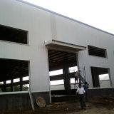 Almacén de la estructura de acero con la correa galvanizada