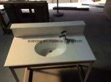 Bancada de cozinha em mármore polido &Vaidade topo com pedra de quartzo Artificial