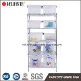 スペース節約5の棚のホーム貯蔵室の調節可能なクロム金属線ラック棚付けシステム
