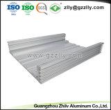 6.063 T6 Dissipador de calor em alumínio anodizado prateado com a norma ISO 9001
