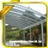 Effacez/de sécurité de l'auvent en verre trempé teinté avec CE/ISO9001/CCC