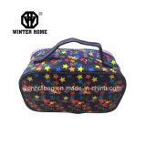 Colorear el bolso lavado impermeable del cosmético de las señoras de la tela de las estrellas