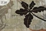 El respaldo de plata con hojas oscuras Sofá tela jacquard en chino