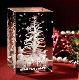 De Gravure van de foto voor Kubus de Van uitstekende kwaliteit van het Kristal van de Giften van Kerstmis