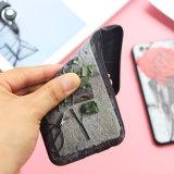 Nuevo 3D retro que graba la caja móvil de la flor de Rose para iPhone6s
